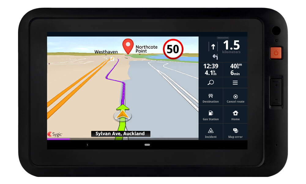 MT201 in vehicle device with smartnav route